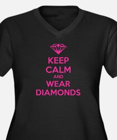 Keep calm and wear diamonds Women's Plus Size V-Ne