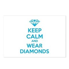 Keep calm and wear diamonds Postcards (Package of