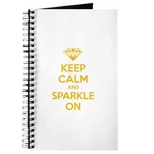 Keep calm and sparkle on Journal