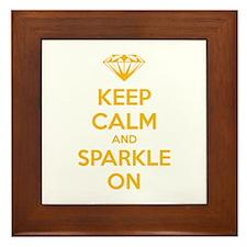 Keep calm and sparkle on Framed Tile
