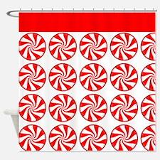 Peppermint Pattern Shower Curtain