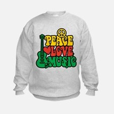Reggae Peace Love Music Sweatshirt