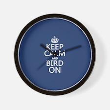Keep Calm and Bird On Wall Clock