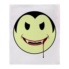 Smiley Vampire Throw Blanket