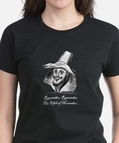 Guy Fawkes Black T-Shirt - For Women