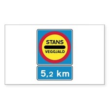 Toll road - Iceland Rectangle Decal