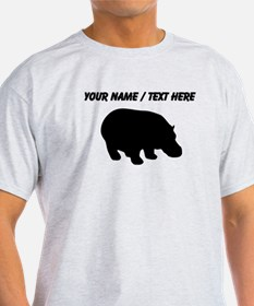 Personalized Black Hippo Silhouette T-Shirt