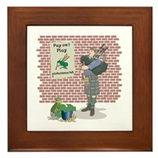 Pay or I play Piobaireachd Framed Tile