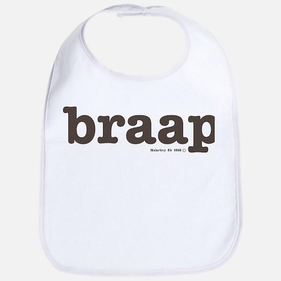 Braap Cyclist Brown Baby Bib