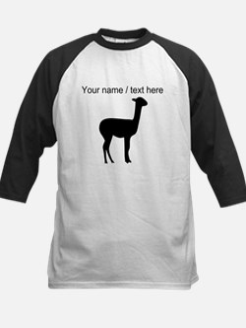 Personalized Black Llama Silhouette Baseball Jerse