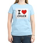 I love Chuck Women's Pink T-Shirt