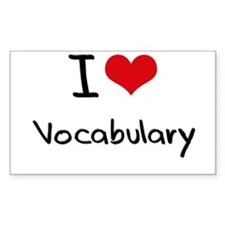 I love Vocabulary Decal