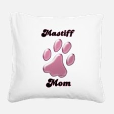 MastiffMomblkpnk.png Square Canvas Pillow