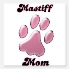 "MastiffMomblkpnk.png Square Car Magnet 3"" x 3"""