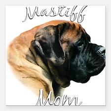 "MastiffapricotMom.png Square Car Magnet 3"" x 3"""