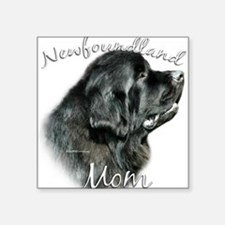 "NewfblackMom.png Square Sticker 3"" x 3"""