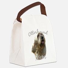 OtterhoundMom.png Canvas Lunch Bag