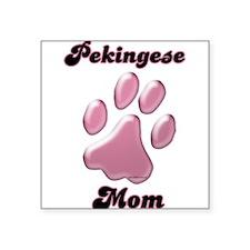 "PekingeseMomblkpnk.png Square Sticker 3"" x 3"""