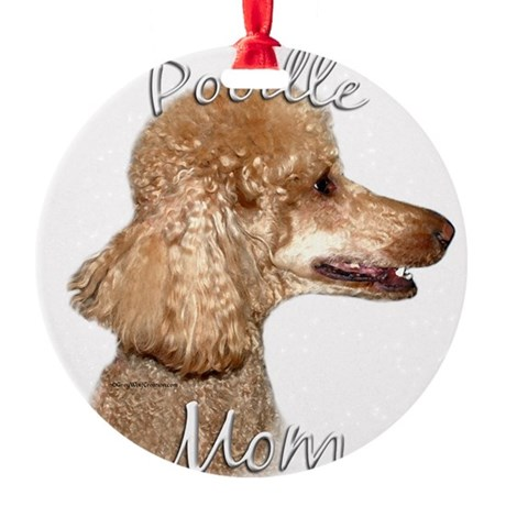 PoodleapricotMom.png Round Ornament