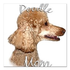 """PoodleapricotMom.png Square Car Magnet 3"""" x 3"""""""