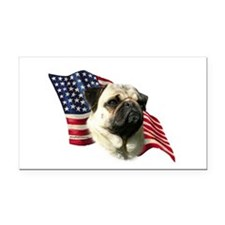 PugFlag.png Rectangle Car Magnet
