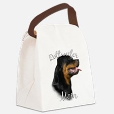 Rottie Mom 2 Canvas Lunch Bag