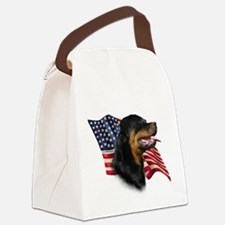 RottweilerFlag.png Canvas Lunch Bag
