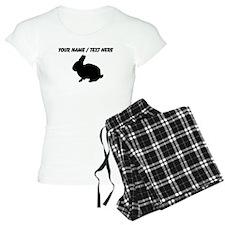 Personalized Black Bunny Silhouette Pajamas