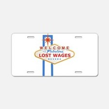 Lost Wages Nevada Aluminum License Plate