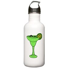 Alligator Swimming in Margarita Water Bottle