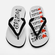 CUSTOMIZE I heart (love) Track Flip Flops