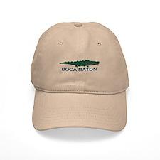 Boca Raton - Alligator Design. Baseball Cap