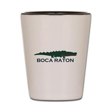 Boca Raton - Alligator Design. Shot Glass