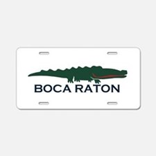 Boca Raton - Alligator Design. Aluminum License Pl