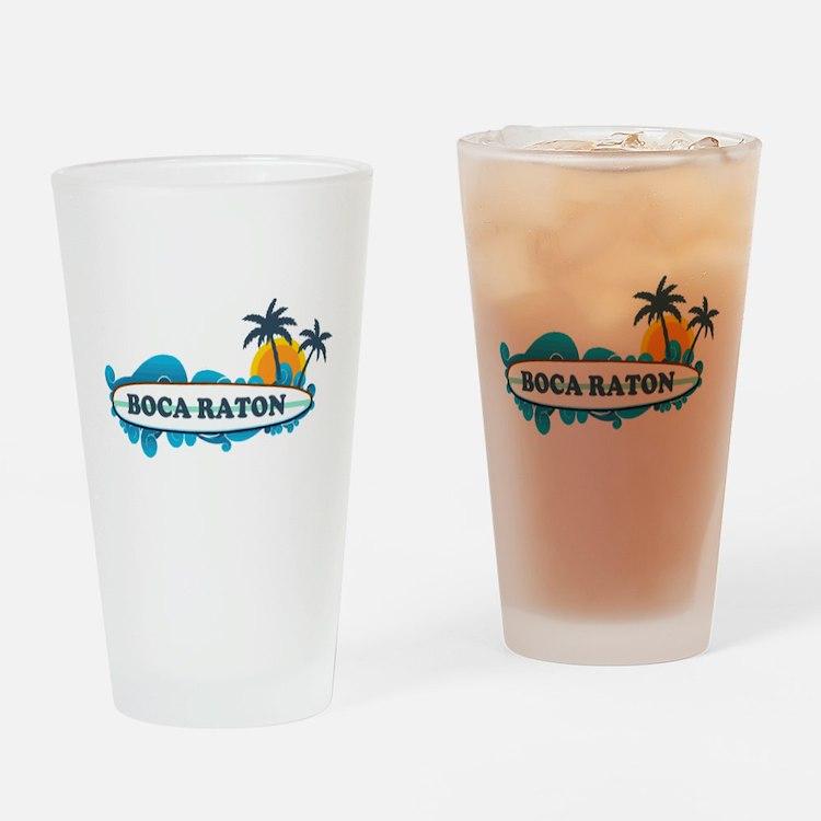 Boca Raton - Surf Design. Drinking Glass