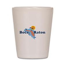 Boca Raton - Map Design. Shot Glass