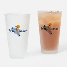 Boca Raton - Map Design. Drinking Glass
