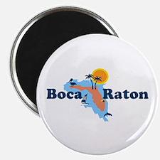 Boca Raton - Map Design. Magnet