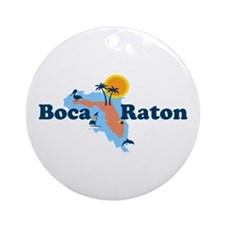 Boca Raton - Map Design. Ornament (Round)