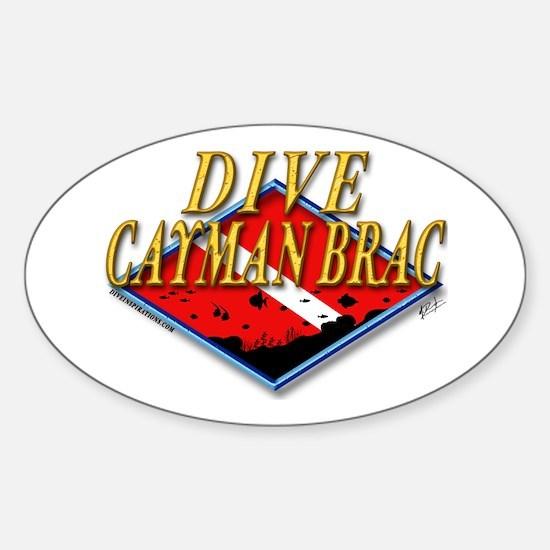 Dive Cayman Brac Oval Decal