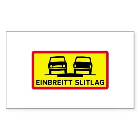 Single-Width Surface - Iceland Sticker (Rectangula