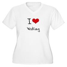 I love Waking Plus Size T-Shirt