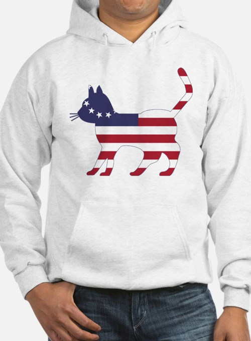Betsy Ross Flag Cat Icon Hoodie