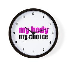 Pro Choice Pink Wall Clock
