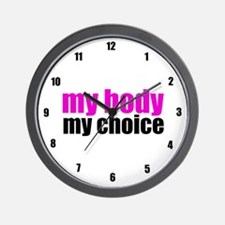 Pro Choice Pink Wall Clock