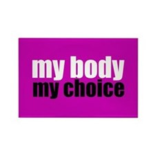 Pro Choice Pink Rectangle Magnet