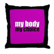 Pro Choice Pink Throw Pillow