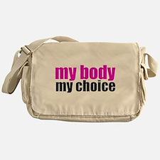 Pro Choice Pink Messenger Bag