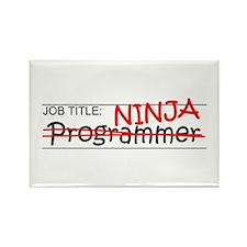 Job Ninja Programmer Rectangle Magnet