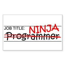 Job Ninja Programmer Decal